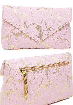 Dries Van Noten Gold Pink Brocade Clutch Bag. Mother of the Bride Outfits. Mother of the Groom Outfits. Brocade Clutch Bags. Pink Clutch Bags