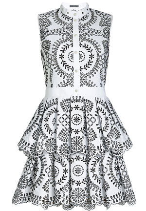 Alexander McQueen Dress. Dresses for the Races. Fashions on the Field outfits. What to wear for the Melbourne Cup. Black and White Derby Day Outfits. Black and White Dresses. Monochrome Outfits for the Races
