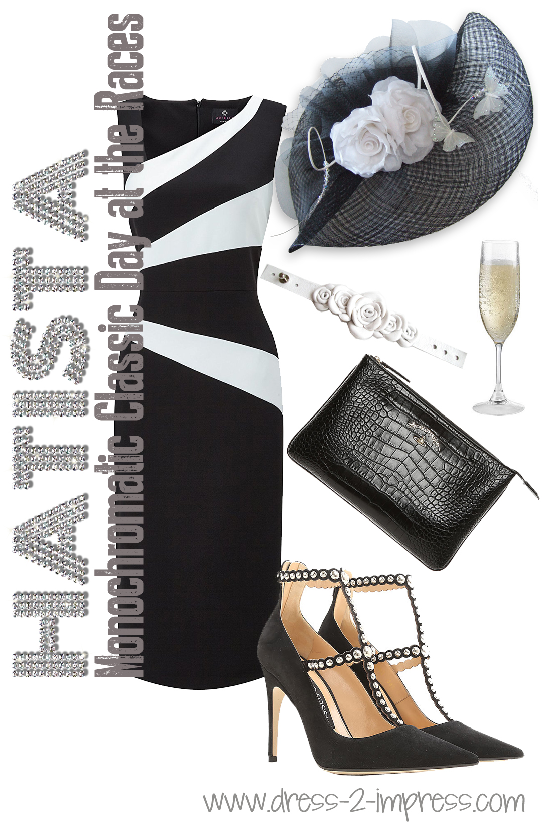 Hatista Monochrome Black And White Outfits For The Races What To Wear For Royal Ascot Races Outfits For Royal Ascot How To Dress For Royal Ascot