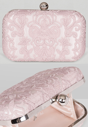Chi Chi Pale Pink Lace Clutch Bag for Mother of the Bride Outfits, from THE HATISTA www.dress-2-impress.com Fashion Ideas and Inspiration