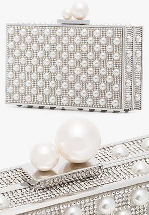 Sophia Webster Pearl Clutch Bag. Mother of the Bride Outfits ideas from THE HATISTA www.dress-2-impress.com
