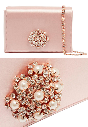 Ted Baker Rose Gold Clutch Bag with Crystals. On the Blog - Finding the Perfect Clutch Bag for Brides, Wedding Fashions, Mother of the Bride Outfits, from THE HATISTA www.dress-2-impress.com Fashion Ideas and Inspiration