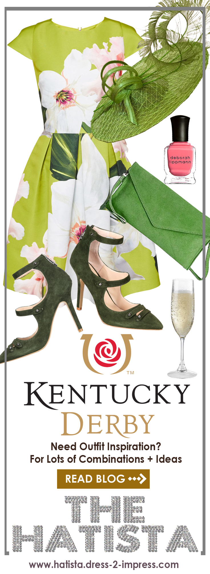 Outfit inspiration, ideas for a day at the races. Kentucky Derby outfits inspiration, what to wear to Royal Ascot Ladies Day from the Hatista #hatista #kentuckyderby #royalascot #fashionblogger #fashion #outfits #outfitideas #derbyhats