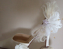 Bridal Feather and Swarovski Crystal Shoe Clips. Wddding Shoes, Bridal shoes.