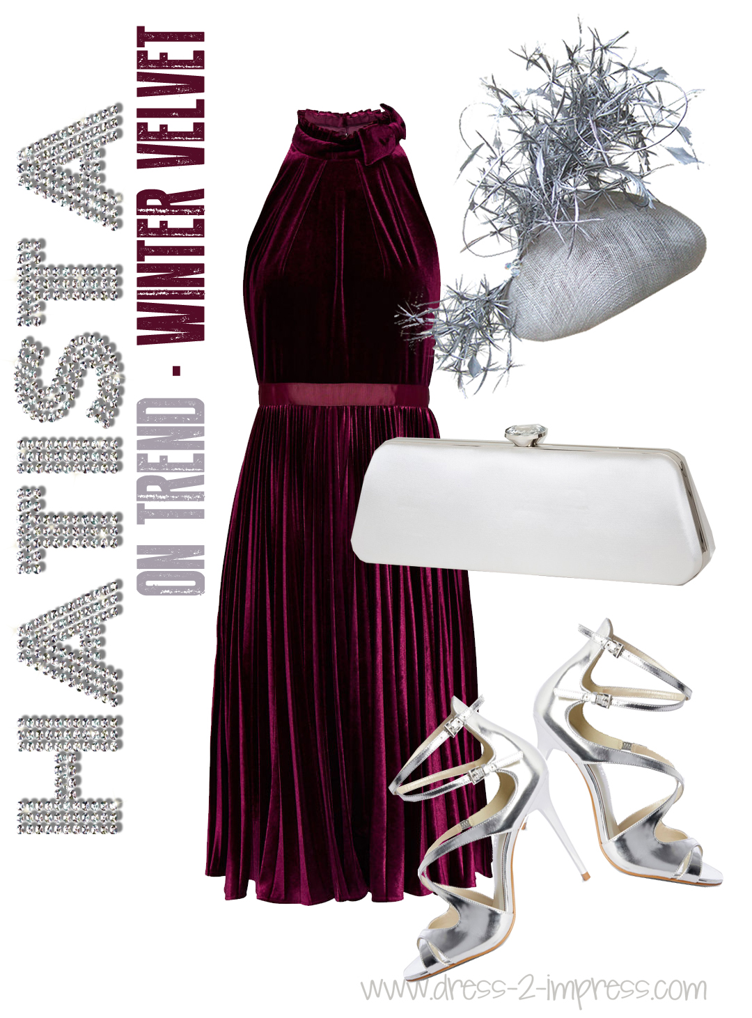 Velvet Trend. What to wear to a Winter Wedding. Winter Wedding Guests and Mother of the Bride outfits. Read Outfit Ideas and Tips for Winter Weddings from THE HATISTA www.dress-2-impress.com #fashionista #winterwedding #weddings #outfits #weddingthemes #outfitideas